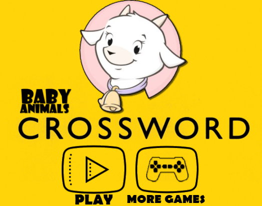 Baby Animal Cross Word