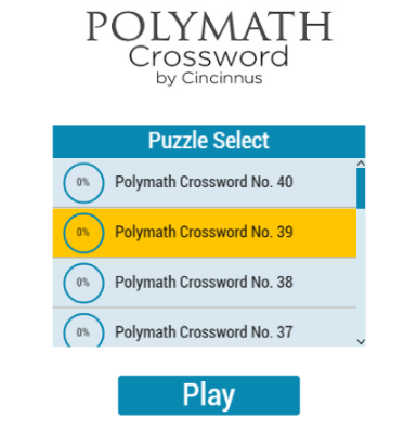 Polymath Crossword by Cincinnus