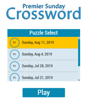 Premier Sunday Crossword