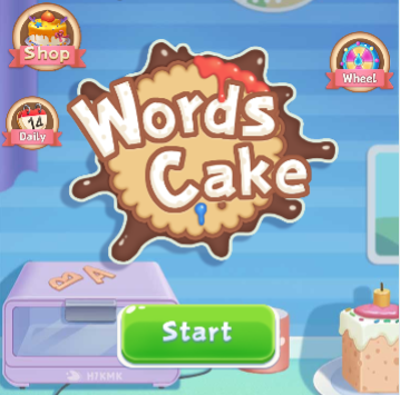 Words Cake